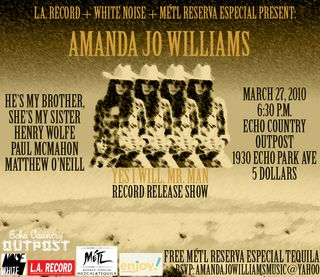 Amanda Jo Williams Record Release Show
